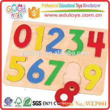 2015 ASTM Certified High Quality Number Toys Wooden Kids Toys Puzzle
