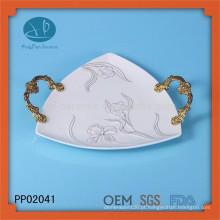 Placa de porcelana chapa de cerâmica placa de impressão, placa pintada à mão, placa de cerâmica
