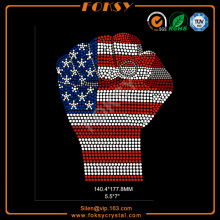 strong fist INDEPENDENCE DAY rhinestone design