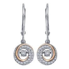 925 Silver Dangle Earrings with Dancing Diamond Jewelry