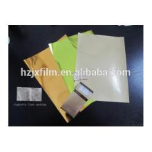 Metallisierte farbige Mylarfolie für Zigarettenschachtelverpackungen