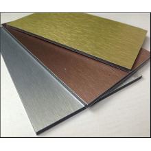 Painéis compostos de alumínio acabados a pincel