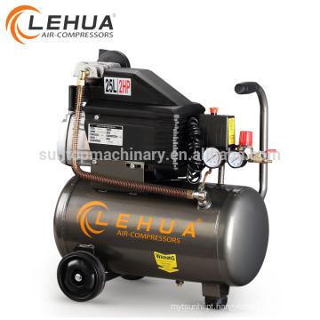 Compressor de ar de 1.5kw 2hp dirigido direto 25L mini