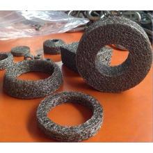 Cylindres compressés à mailles tricotés en acier inoxydable