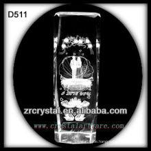 K9 Laserbild in Crystal Block