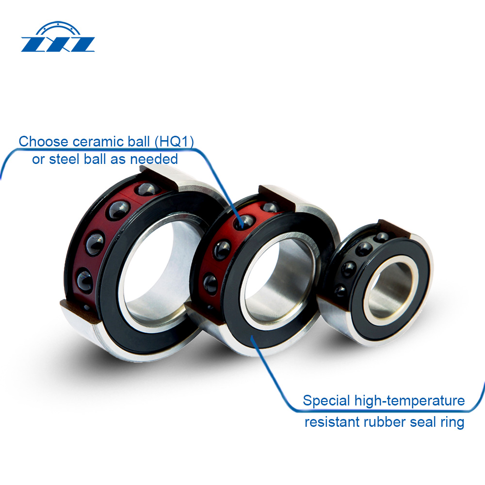 High precision angular contact ball bearings Structure