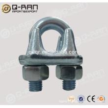 Accessoires de câbles d'acier forgé galvanisé pince pour les travaux de Fondation