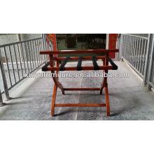 Porte-bagages en bois pliable pour mobilier d'hôtel XY0826