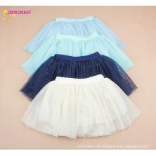 Großhandelskind faltete Chiffon- kurze Röcke Kind-regelmäßige verzierte kurze Röcke