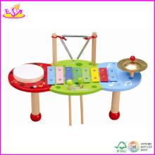 2014 nouveau jouet en bois musique, populaire en bois musique jouet, vente chaude en bois jouet musique w07a056