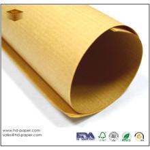 Golden Brown Ribbed Kraft Paper