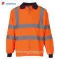 Vêtements de travail haute visibilité réfléchissant vêtements de sécurité En 20471 Class 3 manches longues Hi Vis Polo Shirt Orange Jaune