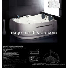 Two Person Use Corner Acrylic Massage Bathtub with Air Bubble (AM124)