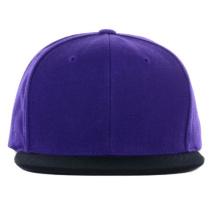 Purple and Black Custom Wholesale Brim Snapback Hats