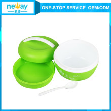 Plastic Biliary Vacuum Heat Preservation Lunch Box with Spoon