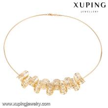 43183 Xuping nova e fina cor de ouro 18k sem colar de pedra para meninas