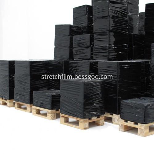 black stretch film