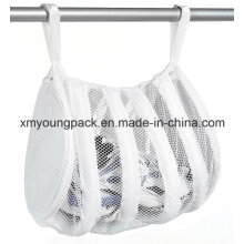 White Nylon Mesh Sneaker Laundry Wash Bag