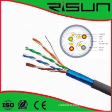 Câble réseau FTP Cat5e avec certification Ce / RoHS / ISO / ETL