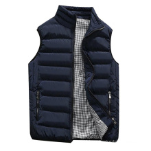 Men Casual Padded Cotton Vest Warm Hooded Thick Vest Tops