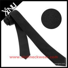 Cravate étroite noire de vente chaude