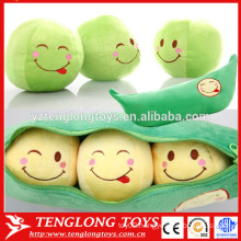 2015 new design plush pea toy stuffed pea toy soft plant toy