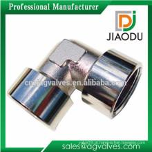 China fabricação de latão de alta qualidade flexível 90 graus de cromo chapeado conector cotovelo para tubos