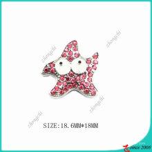 Rose Pink Zinc aleación Metal Star Charm