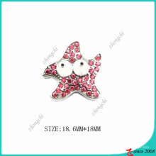 Zinc Alloy Crystals Metal Starfish Charm (SPE)