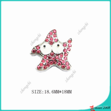 Rose Pink Zinc Alloy Metal Star Charm