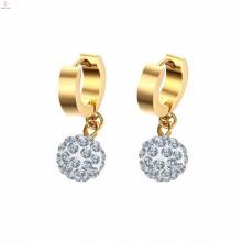 Doppelter silberner kleiner Goldohrring-Tropfen-Kristallschmucksachen