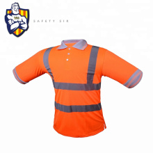 High visibility traffic safety t shirt with reflective tape