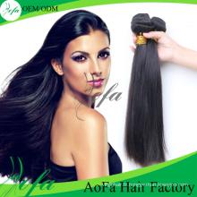 7A Grade Cheveux Raides Humains Vierge Remy Trame De Cheveux