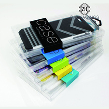 Custom plastic cell phone case box
