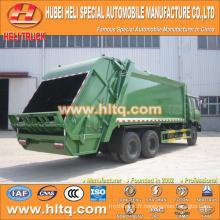DONGFENG 6x4 16/20 m3 charge lourde chargeur arrière moteur diesel 210hp avec mécanisme de pressage
