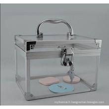 Les cas cosmétiques de stockage de style acrylique de base (hx-q052)