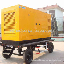 8-1500kw mobile generator with 4 wheels