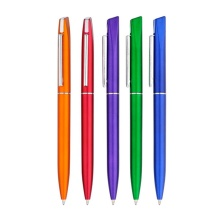 Promtoion Plastic Ball Pens with Metal Clip