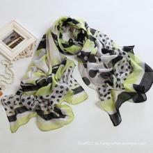 Art und Weise Herbst lang Polyester Voile Schal Frauen Schals