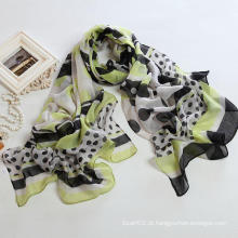 Moda Outono Long Polyester Voile Scarf Mulher Scarves