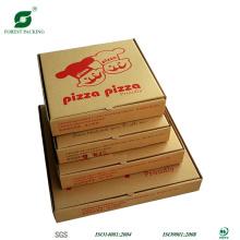 Vorious taille boîte à pizza marron avec impression de filigrane