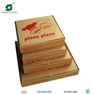 Vorious Size Brown Pizza Box with Watermark Print