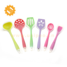 Ustensiles de cuisine en silicone mis sous étiquette privée 7 outils de cuisine en silicone