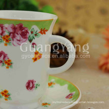 Different Color Available New Bone China Black And White Tea Cups And Saucers With Exw Price