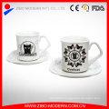 Wholesale Custom Logo Ceramic Espresso Coffee Mug Cup Porcelain Saucer