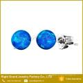 Pendientes baratos del ópalo azul bola tornillo tornillo nuevo Stud pendientes joyería