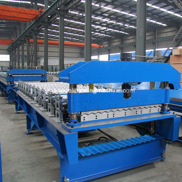Lembaran Corrugated Metal Roofing Roll Forming Machine