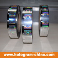 Feuille d'estampage à chaud à hologramme pour plastiques