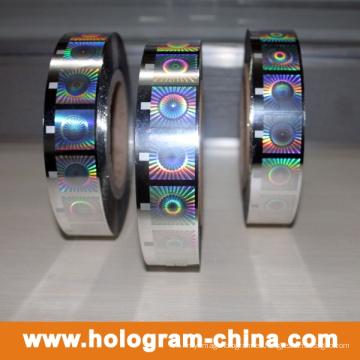 Lámina de estampado en caliente holográfica anti falsificación