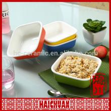Keramik runde Kekse Snack Schüssel Brothalter Salat Schüssel Kuchen Bakeware
